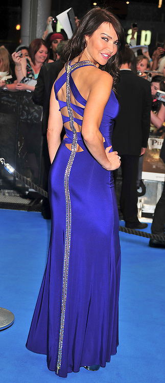 "© licensed to London News Pictures. London, UK  12/05/11 Lizzy Cundy attends the UK premiere of Pirates of the Carribean 4 ""on Stranger Tides"" at Londons Westfield . Please see special instructions for usage rates. Photo credit should read AlanRoxborough/LNP"