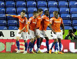 Birmingham celebrate their winning goal - Photo mandatory by-line: Robbie Stephenson/JMP - Mobile: 07966 386802 - 22/04/2015 - SPORT - Football - Reading - Madejski Stadium - Reading v Birmingham City - Sky Bet Championship