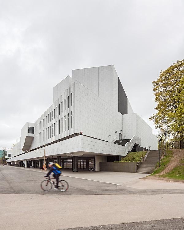 The Finlandia Hall congress centre designed by Alvar Aalto in Helsinki, Finland