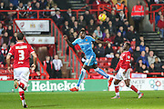 Wolverhampton Wanderers Dominic Iorfa heads clear during the Sky Bet Championship match between Bristol City and Wolverhampton Wanderers at Ashton Gate, Bristol, England on 3 November 2015. Photo by Shane Healey.
