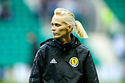 Scotland manager Shelley Kerr ahead of the Women's Euro Qualifiers match between Scotland Women and Cyprus Women at Easter Road, Edinburgh, Scotland on 30 August 2019.
