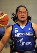 Auckland A's Steve Hei on attack. Auckland A v Northland Te Raki Trouper - 2010 Wheelchair Basketball National Championships at Te Rauparaha Arena, Porirua. Friday, 117 September 2010. Photo: Dave Lintott/photosport.co.nz