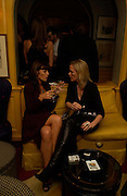 Claudia Winkleman and Elizabeth Murdoch, Emily Oppenheim. Artists Independent Networks  Pre-BAFTA Party at Annabel's co hosted by Charles Finch and Chanel. Berkeley Sq. London. 11 February 2005. . ONE TIME USE ONLY - DO NOT ARCHIVE  © Copyright Photograph by Dafydd Jones 66 Stockwell Park Rd. London SW9 0DA Tel 020 7733 0108 www.dafjones.com