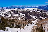 Snowmass (Aspen) ski resort, Snowmass Village, Colorado USA.