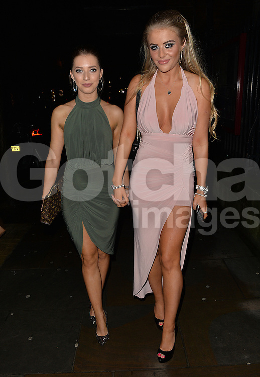 Ex On The Beach Megan Clark and friend at Cafe De Paris club in London, UK. 06/02/2016<br />