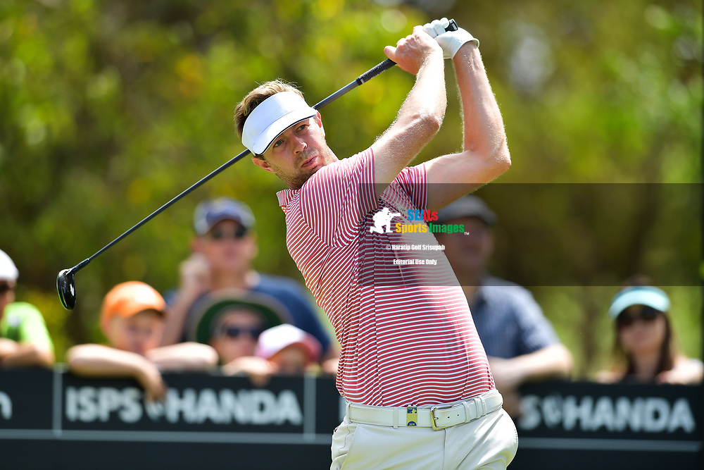 PERTH, AUSTRALIA - FEBRUARY 16: Ben Evans (ENG) on the 2nd tee during the 3rd round of the ISPS Handa World Super 6, Lake Karrinyup Country Club, Perth, Western Australia, on February 16, 2019. <br /> .<br /> .<br /> .<br /> (Photo by: Naratip Golf Srisupab/SEALs Sports Images)<br /> .<br /> Any image use must include a mandatory credit line adjacent to the content which should read: Naratip Golf Srisupab/SEALs Sports Images