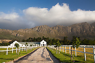 A farm in the Dutch Cape style, Franschhoek, South Africa.