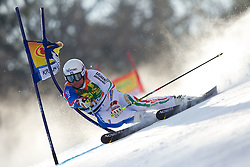Davide Simoncelli of Italy competes during 1st Run of Men's Giant Slalom of FIS Ski World Cup Alpine Kranjska Gora, on March 5, 2011 in Vitranc/Podkoren, Kranjska Gora, Slovenia.  (Photo By Vid Ponikvar / Sportida.com)