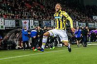 ROTTERDAM - Sparta Rotterdam - Vitesse , Voetbal , Halve Finale KNVB Beker , Seizoen 2016/2017 , Sparta stadion het Kasteel , 01-03-2017 ,  Vitesse speler Lewis Baker scoort de 0-1