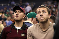 Chelsea's Eden Hazard in the crowd during the NBA London Game 2018 at the O2 Arena, London.
