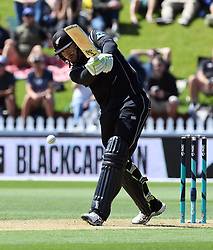 New Zealand's Martin Guptill batting against Pakistan in the first one day cricket international at the Basin Reserve, Wellington, New Zealand, Saturday, January 06, 2018. Credit:SNPA / Ross Setford  **NO ARCHIVING**