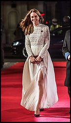 November 3, 2016 - London, United Kingdom - Image licensed to i-Images Picture Agency. 03/11/2016. London, United Kingdom. The  Duchess of Cambridge arriving at  A Street Cat Named Bob premiere in London. ..The Duchess of Cambridge arrives at the Curzon cinema in Mayfair, London for the premiere of the film ''A street cat named Bob'' in aid of the charity ''Action on Addiction'' of which she is a patron. √îA Street Cat Named Bob√ï tells the true story of the unlikely friendship between a young homeless busker, James Bowen, and the stray ginger cat who changes his life. The charity ''Action on Addiction'' brings help, hope and freedom to those living with addiction and those living with people who suffer problems of addiction. It is the UK√ïs only charity working across the addiction field in treatment, professional education to honours degree level, support for families and children, research, and campaigns....Picture by  i-Images / Pool (Credit Image: © i-Images via ZUMA Wire)