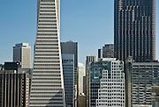San Francisco, California, July, 2008-The high-rise towers of the financial district as seen from Telegraph Hill.