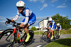 Annelies Dom (Lensworld Zanatta) the 42,5 km team time trial of the UCI Women's World Tour's 2016 Crescent Vårgårda Team Time Trial on August 19, 2016 in Vårgårda, Sweden. (Photo by Sean Robinson/Velofocus)