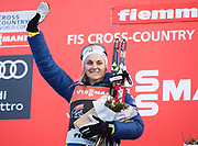 VAL DI FIEMME, ITALIEN - 2017-01-08: Stina Nilsson under damernas 9 km fristil jaktstart, den 8 januari, 2017 i Val di Fiemme, Italien.<br /> Foto: Nils Petter Nilsson/Ombrello<br /> ***BETALBILD***
