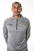 Forest Green Rovers goalkeeper coach Pat Mountain during the 2018/19 official team photocall for Forest Green Rovers at the New Lawn, Forest Green, United Kingdom on 30 July 2018. Picture by Shane Healey.