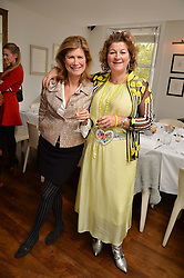Left to right, VIRGINIE TAITTINGER and LARA GRYLLS at a lunch to promote the jewellery created by Luis Miguel Howard held at Morton's, Berkeley Square, London on 20th October 2016.