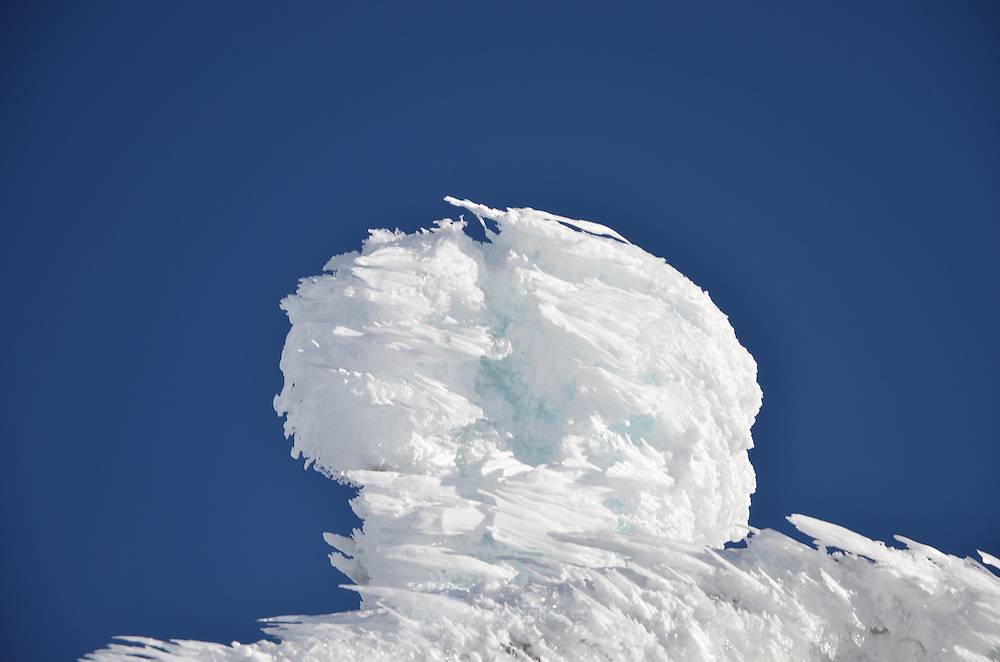 Rime ice at the summit of Mount Washington.