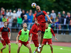 ROTTACH-EGERN, GERMANY - Friday, July 28, 2017: Liverpool's Joel Matip during a training session at FC Rottach-Egern on day three of the preseason training camp in Germany. (Pic by David Rawcliffe/Propaganda)