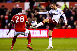 Conor Hourihane of Aston Villa takes on Pele of Nottingham Forest - Mandatory by-line: Robbie Stephenson/JMP - 13/03/2019 - FOOTBALL - The City Ground - Nottingham, England - Nottingham Forest v Aston Villa - Sky Bet Championship