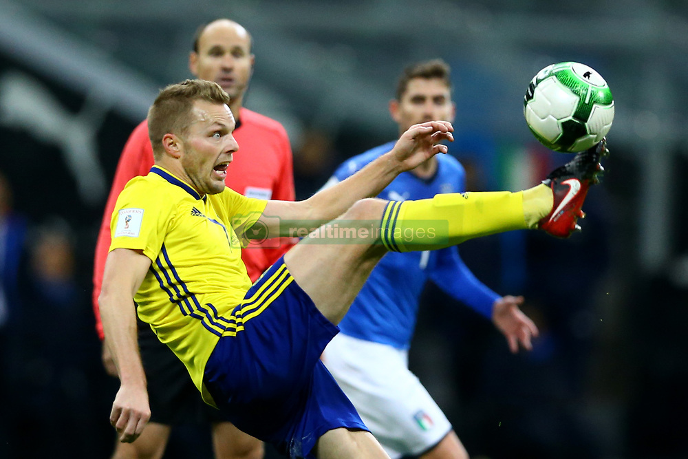 November 13, 2017 - Milan, Italy - FIFA World Cup Qualifiers play-off Switzerland v Northern Ireland.Sebastian Larsson of Sweden at San Siro Stadium in Milan, Italy on November 13, 2017..Photo Matteo Ciambelli / NurPhoto  (Credit Image: © Matteo Ciambelli/NurPhoto via ZUMA Press)