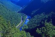 Aerial, Pine Creek Gorge, Pine Creek, Rail to Trail, PA