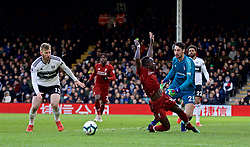 LONDON, ENGLAND - Sunday, March 17, 2019: Liverpool's xxxx during the FA Premier League match between Fulham FC and Liverpool FC at Craven Cottage. (Pic by David Rawcliffe/Propaganda)