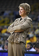 February 18, 2010: Iowa head coach Lisa Bluder during the second half of the NCAA women's basketball game at Carver-Hawkeye Arena in Iowa City, Iowa on February 18, 2010. Iowa defeated Minnesota 75-54.