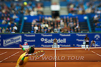 BARCELONA, SPAIN - APRIL 22:  Rafael Nadal of Spain, The ATP 500 World Tour Barcelona Open Banco Sabadell 2011 tennis tournament at the Real Club de Tenis on April 22, 2011 in Barcelona, Spain. (Photo by Manuel Queimadelos Alonso)