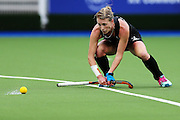 GEmily Naylor of New Zealand in action during the bronze medal match between New Zealand and South Africa. Glasgow 2014 Commonwealth Games. Hockey, Bronze Medal Match, Black Sticks Women v South Africa, Glasgow Green Hockey Centre, Glasgow, Scotland. Saturday 2 August 2014. Photo: Anthony Au-Yeung / photosport.co.nz