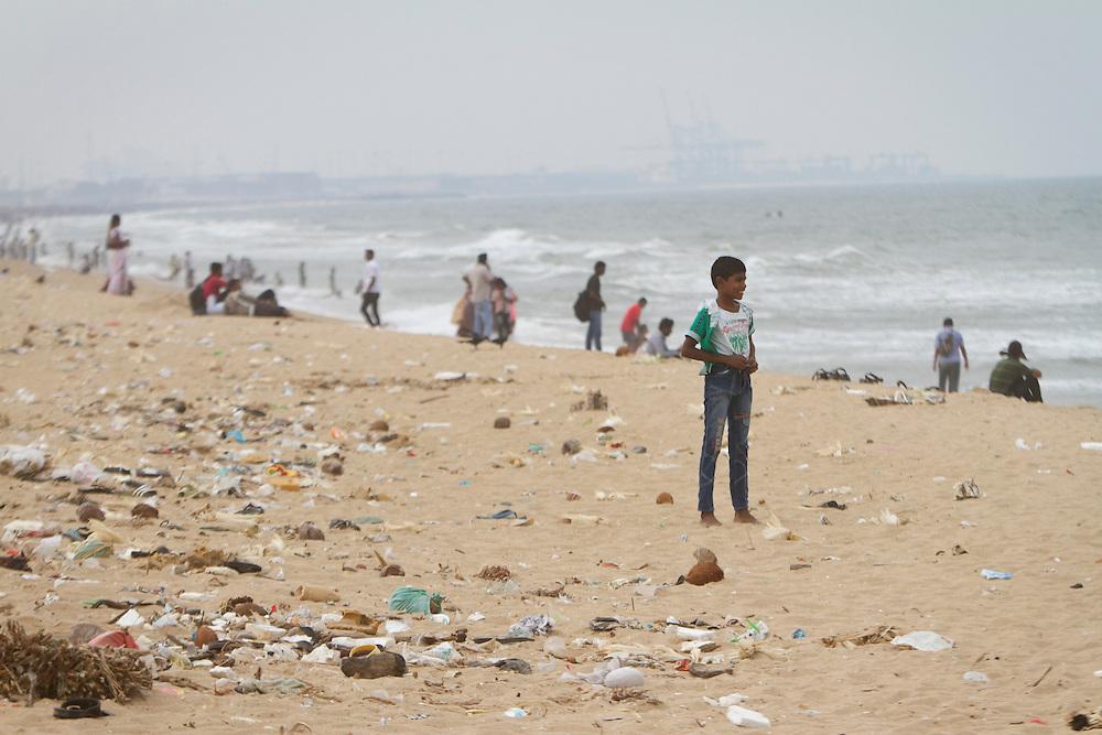 Ghandi Beach, Chennai, India.