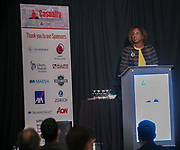 Justice Tanya R. Kennedy, New York State Supreme Court, County of New York delivers the Key Note at Advisen's 2019 Casualty Insights Conference in New York City.