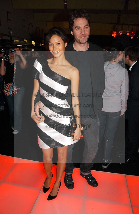 Actress THANDIE NEWTON her husband OLIVER PARKER at a party to celebrate the launch of a range of leather accessories designed by Giles Deacon for Mulberry held at Harvey Nichols, Knightsbridge, London on 30th October 2007.<br /><br />NON EXCLUSIVE - WORLD RIGHTS