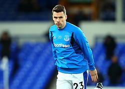 Seamus Coleman of Everton - Mandatory by-line: Robbie Stephenson/JMP - 31/01/2018 - FOOTBALL - Goodison Park - Liverpool, England - Everton v Leicester City - Premier League