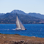 Fado sailing in the Loro Piana Superyacht Regatta.
