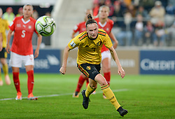 October 9, 2018 - Biel, SWITZERLAND - Belgium's Elke Van Gorp pictured in action during a soccer game between Switzerland and Belgium's national team the Red Flames, Tuesday 09 October 2018, in Biel, Switzerland, the return leg of the play-offs qualification games for the women's 2019 World Cup. BELGA PHOTO DAVID CATRY (Credit Image: © David Catry/Belga via ZUMA Press)