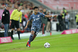 13.01.2019, Merkur Spiel Arena, Duesseldorf, GER, Telekom Cup, Fortuna Duesseldorf vs FC Bayern Muenchen, im Bild Serge Gnabry (Muenchen) mit Ball // during the Telekom Cup Match between Fortuna Duesseldorf and FC Bayern Muenchen at the Merkur Spiel Arena in Duesseldorf, Germany on 2019/01/13. EXPA Pictures © 2019, PhotoCredit: EXPA/ Eibner-Pressefoto/ Hommes<br /> <br /> *****ATTENTION - OUT of GER*****