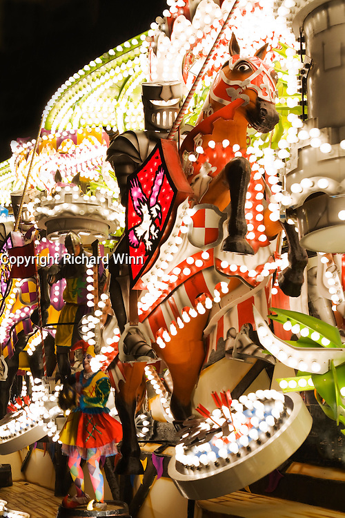 Photograph of Joust by Gremlins CC at Bridgwater Carnival. Winner of the Feature Cart Open Class, Bridgwater Carnival, 2009. Joint winner of the Hardy Spicer Championhip Cup and Bridgwater Lions International Cup.