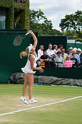 LONDON, ENGLAND - Monday, July 4, 2016:  Chiara Lommer (USA)  during the Girls' Single 1st Round match on day eight of the Wimbledon Lawn Tennis Championships at the All England Lawn Tennis and Croquet Club. (Pic by Kirsten Holst/Propaganda)