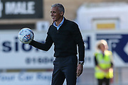 Northampton Town manager Keith Curle during the EFL Sky Bet League 2 match between Northampton Town and Forest Green Rovers at Sixfields Stadium, Northampton, England on 13 October 2018.