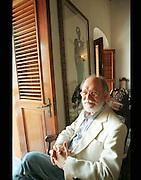 Actor-Director, Jacobo Morales at Hijos de Borinquen in Old San Juan, Puerto Rico.