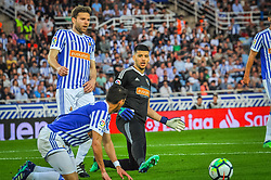 April 19, 2018 - San Sebastian, Spain - Geronimo Rulli of Real Sociedad during the Spanish league football match between Real Sociedad and Atletico Madrid at the Anoeta Stadium on 19 April 2018 in San Sebastian, Spain  (Credit Image: © Jose Ignacio Unanue/NurPhoto via ZUMA Press)