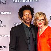 NLD/Amsterdam/20200217-Suriname filmpremiere, Mike Libanon en ...... partner
