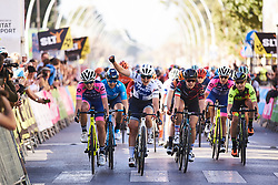 Top three sprint to the line: Lotta Lepistö (FIN), Maria Giulia Confalonieri (ITA) and Elena Cecchini (ITA) at Setmana Ciclista Valenciana 2019 - Stage 2, a 100 km road race from Borriol to Vila-Real, Spain on February 22, 2019. Photo by Sean Robinson/velofocus.com