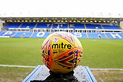 Match ball with the Family Stand in the background before the EFL Sky Bet League 1 match between Peterborough United and Southend United at London Road, Peterborough, England on 3 February 2018. Picture by Nigel Cole.