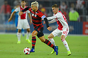 Flamengo midfielder Diego (10) and Ajax midefielder Vaclav Cerny (32) in action during a Florida Cup match at Orlando City Stadium on Jan. 10, 2019 in Orlando, Florida. <br /> Flamengo won in penalties 4-3.<br /> <br /> ©2019 Scott A. Miller