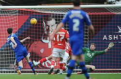 Rochdale's Peter Vincenti shoots wide - Photo mandatory by-line: Dougie Allward/JMP - Mobile: 07966 386802 - 28/02/2015 - SPORT - football - Bristol - Ashton Gate - Bristol City v Rochdale AFC - Sky Bet League One