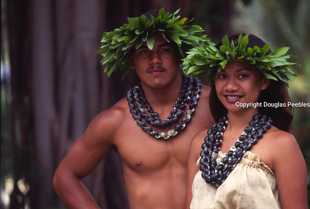 Polynesian couple, hula<br />
