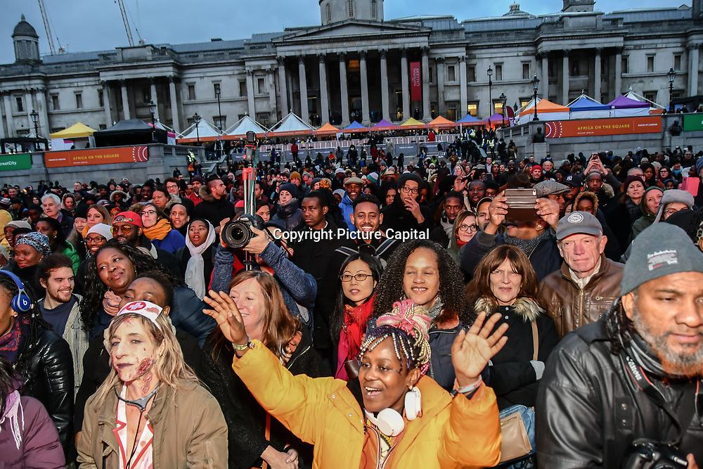 Africa on the Square ,Africa on the Square 2018 celebrates African arts and culture, as well as enhancing Black History Month in Trafalgar Square, London, UK. 27 October 2018.