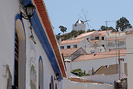 Aspect of the village of Odeceixe, Algarve. The village's white houses.